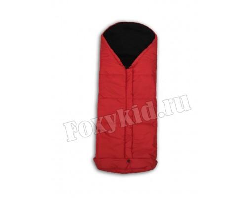 Конверт на флисе 110 см Красный