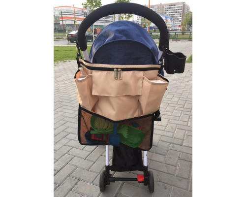 Органайзер -сумка для коляски Капучино