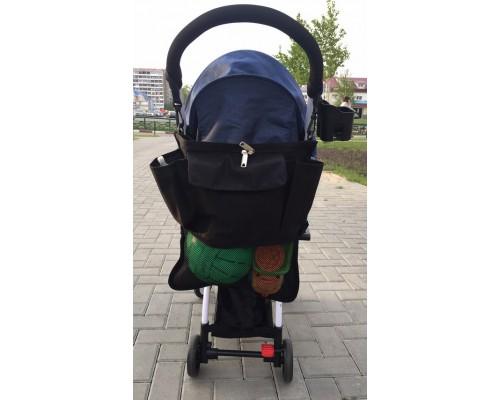 Органайзер-сумка для коляски Чёрный